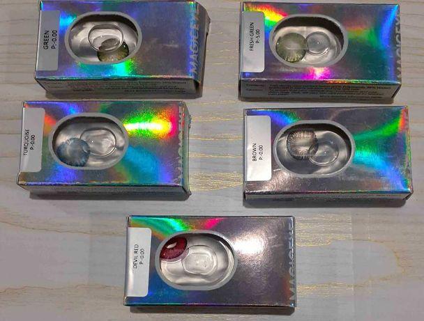 Цветные линзы контактные линзы magic eye -0.00