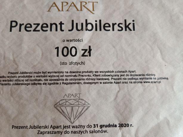 Sprzedam lub zamienię bon Apart - 100 zł