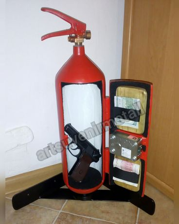Огнетушитель-сейф Огнетушитель бар Тайник Оружейный сейф для пистолета