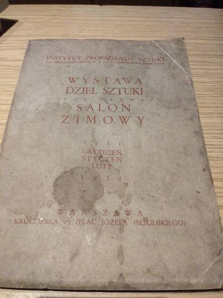 Wystawa dzieł sztuki pod nazwą Salon Zimowy - katalog przedwojenny
