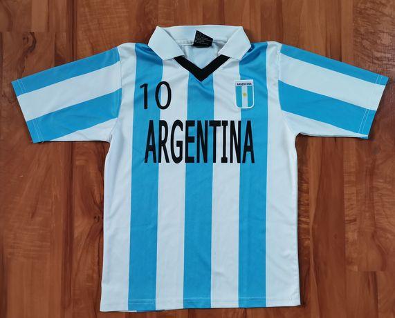 Koszulka sportowa piłkarska Argentyna numer 10 rozmiar 140 wysyłka