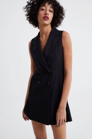Zara, Платье жилет, платье - пиджак, двубортный жилет XS