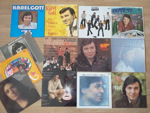 Zestaw 10 płyt winylowych  Karel Gott  + 3 płyty Suprafon GRATIS