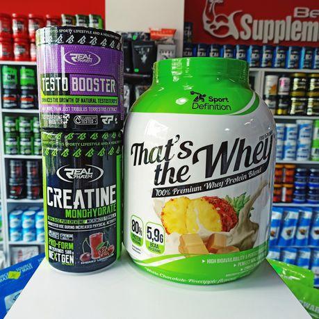 ZESTAW Odżywek Białko, Booster testosteronu Kreatyna Odżywki na siłę