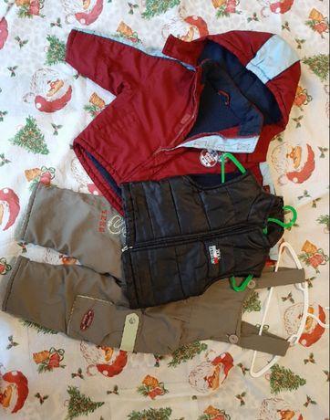 Комплект куртка жилет комбенизон 80-86 см