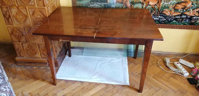 Stół rozkładany PRL + szyba