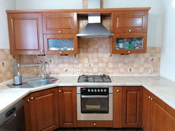 meble kuchenne + kuchenka gaz. z elektr. piekarnikiem + okap+ zlewozm