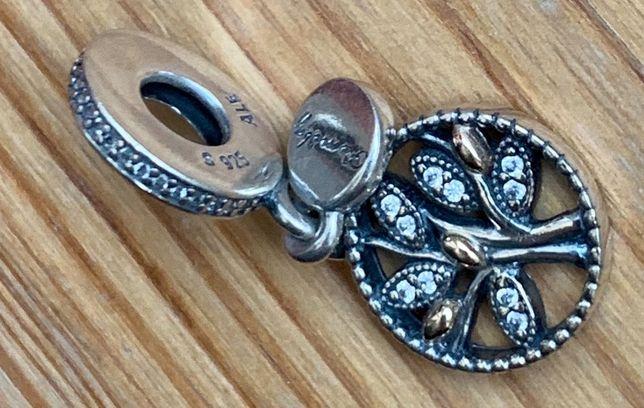 Pandora-nowy, oryginalny,przepiękny charms TT-złoto/srebrny Drzewo G