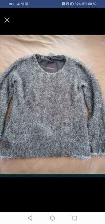Camisola de pêlo cinza