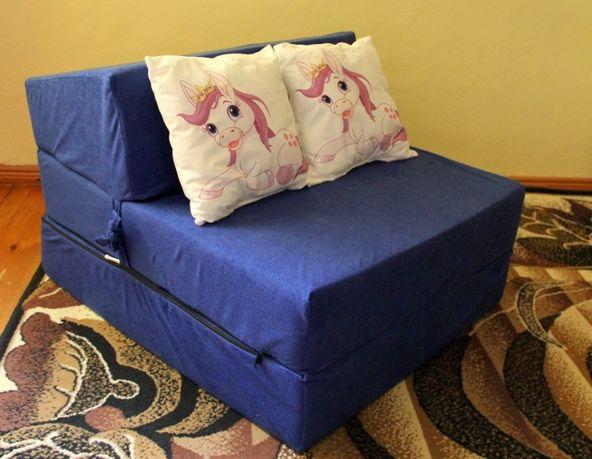 Fotel rozkładany, pufa