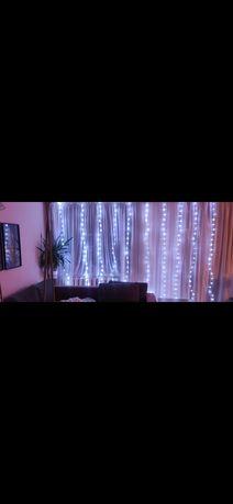 Kurtyna świetlna LED pilot USB,kolor ,bialy