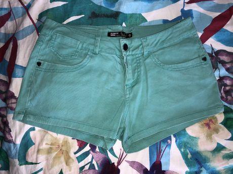 Spodenki jeansowe turkusowe