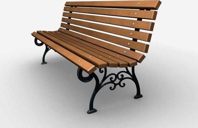 Ławka żeliwna ogrodowa, parkowa na taras id.0112