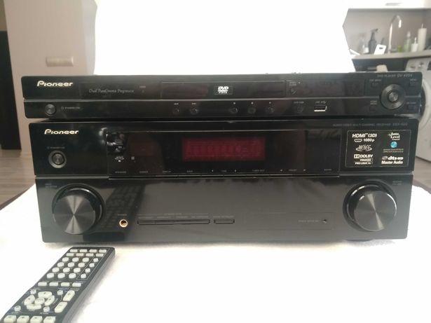 Kino domowe Pioneer VSX-520, DVD DV-420V+ 5 x głośniki  S-ES3TB