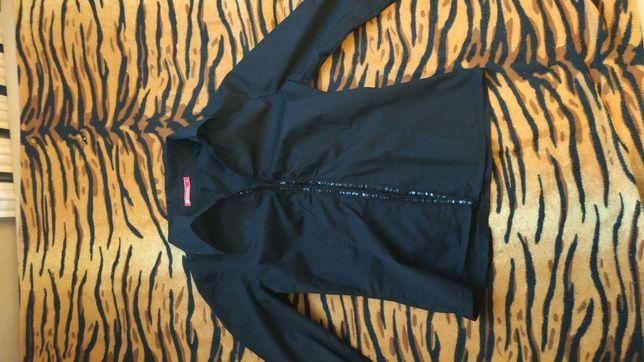 Czarna koszula Reserved M 38 cekiny zapinana na haftki