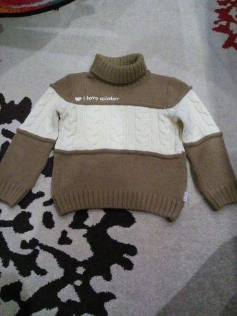 Зимний теплый свитер на мальчика