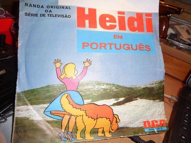Disco Single Heidi em Português Banda Original da série da Televisão