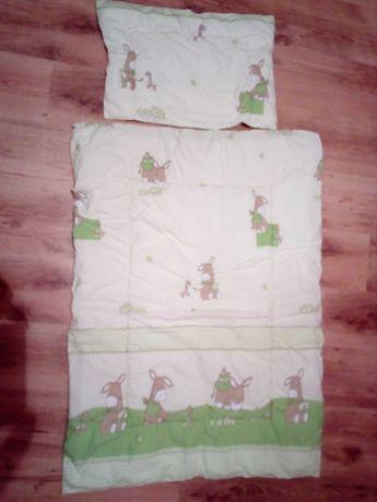 kołdra i poduszka dziecięca do łóżeczka