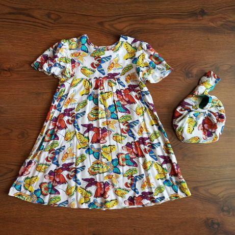 Летнее платье для девочки 6-7 лет