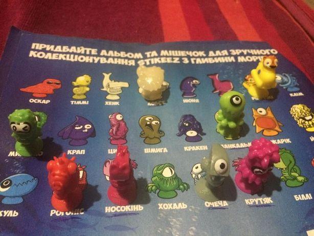 Продам игрушки Stikeez из глубины морей Сильпо