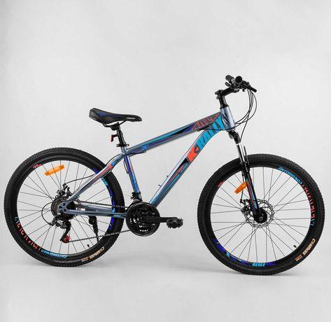 """Велосипед спортивный горный K-RALLY 26"""" дюймов 21 скорость рама сталь"""