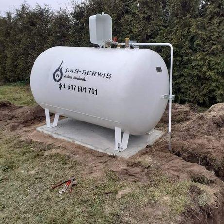 Zbiornik na gaz płynny LPG 2700 litrów Butla gazowa od ręki Nowa