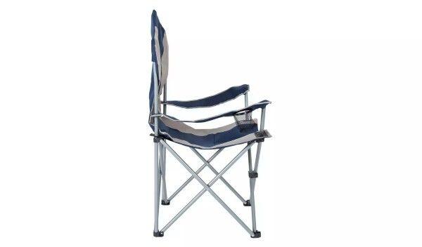 Składane krzesło kempingowe Trespass z oparciem