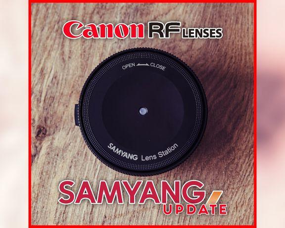 Canon RF update Samyang Lens Station Canon RF EOS R R5 R6 RP