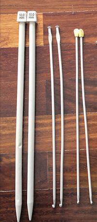 4 agulhas de malha