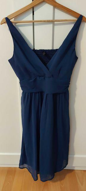 Niebieska sukienka na ramiączkach Vero Moda, rozmiar M