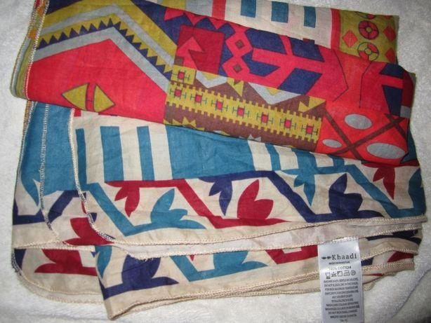 Эксклюзивная шаль, шарф. РУЧНАЯ РАБОТА Khaadi Пакистан 240*95смНовая