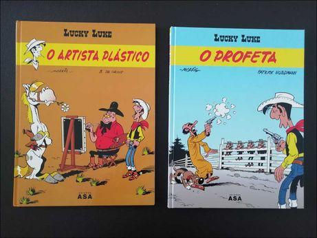 """Livros """"Lucky Luke"""" - 1.ª edição da ASA - Oferta dos portes"""