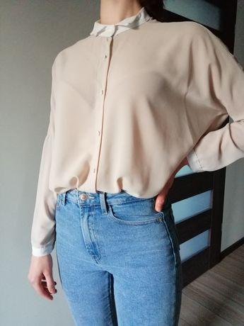 Beżowa koszula oversize