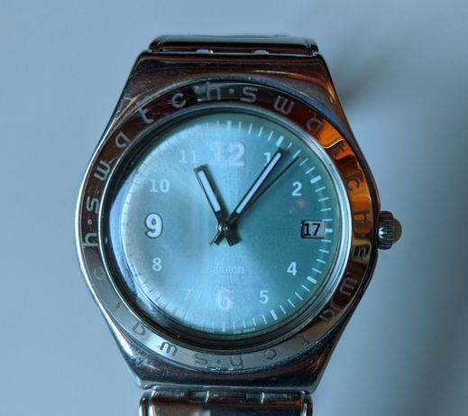Swatch Irony bracelete pele azul