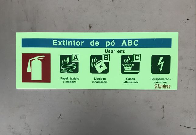 Aviso extintor