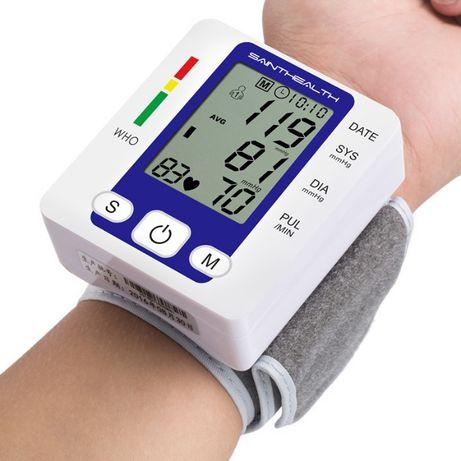 NOWY Ciśnieniomierz nadgarstkowy pulsometr tętno automatyczny łatwy