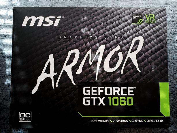 MSI GTX 1060 ARMOR 3gb (3 месяца гарантии)