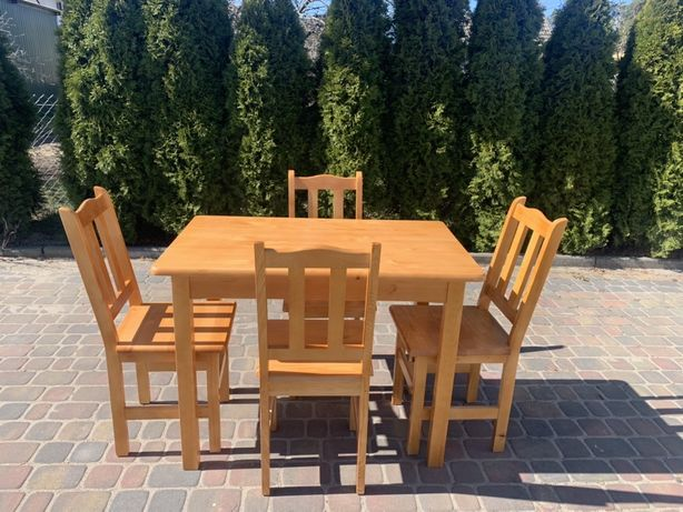 """Stół kuchenny sosnowy """" Amur""""i krzesła sosnowe """" Paryż"""""""