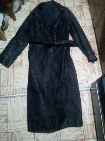 Пальто женское кожа
