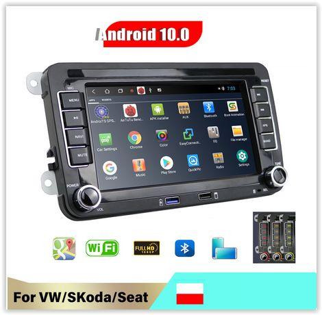 Radio Android 10 !! din2 VW Seat Skoda WI-FI BT