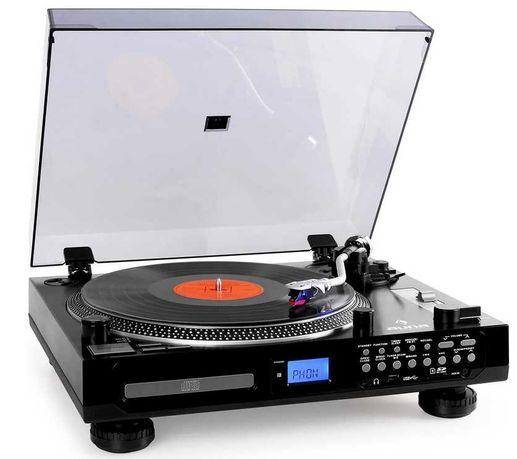 Gramofon multimedialny Auna z radiem FM , CD z MP3 ,Tape ,SD , Aux