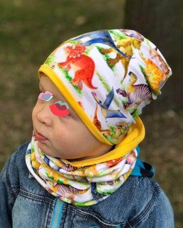 АКЦИЯ Шапка и снуд для девочки мальчика