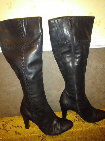 Сапоги женские кожаные 38