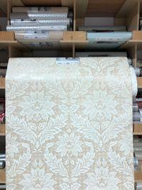 Tapeta Rasch 685015 szeroka 106cm flizelina ornament kremowa 5 szt