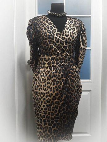 Платье Roccobarocco, принт леопард