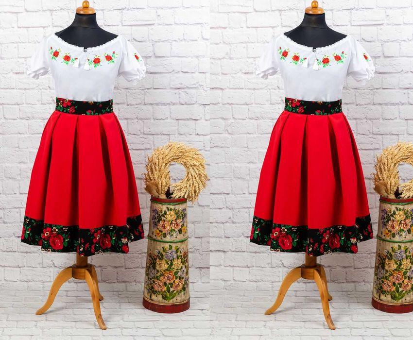 K-01 Strój folkowy ludowy góralski spódnica + bluzka Koło Gospodyń Łodygowice - image 1