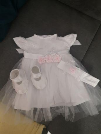 Sukienka na chrzest, komplet