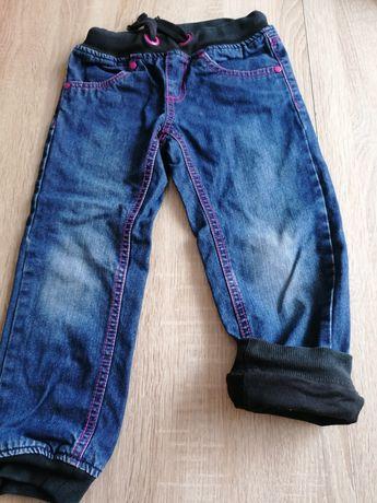 Spodnie jeansy na podszewce