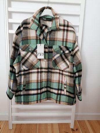Nowa kurtka koszulowa w kratę Zara