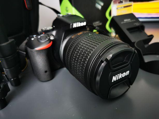 Lustrzanka NIKON D5500 + 18-105 + 128gb +mik. Genesis + inne jak nowy